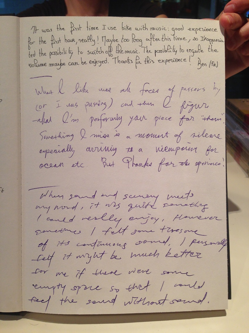 Pedalling Seasides guestbook 05