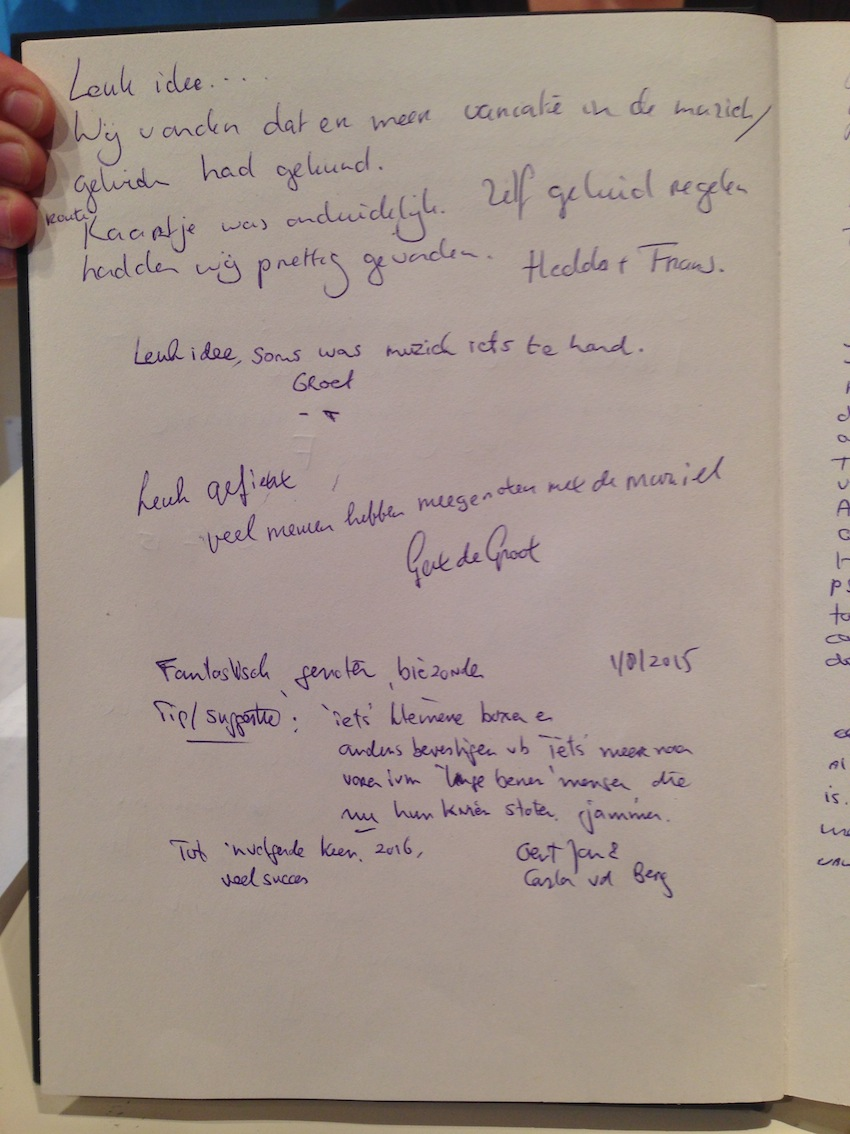 Pedalling Seasides guestbook 14