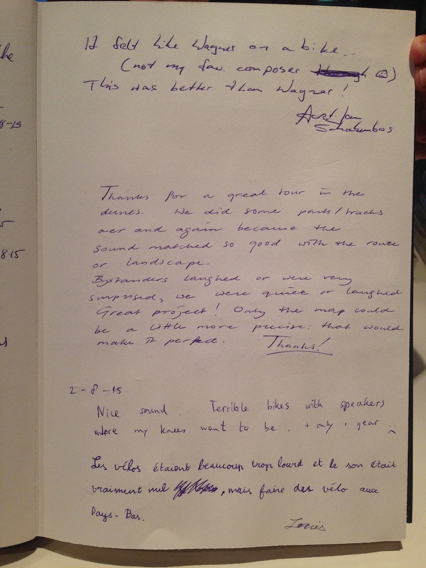 Pedalling Seasides guestbook 19